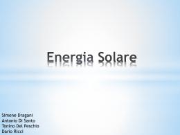 Cos`è l`energia solare?