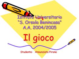 Il gioco - ClementinaGily.it