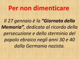 """Giornata della Memoria - """"G. Verga"""" di Pachino"""