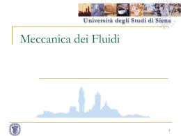 Meccanica dei Fluidi (presentazione PowerPoint)