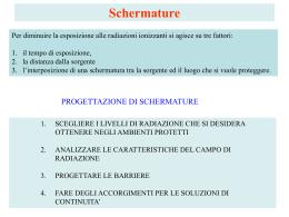 Schermature (cenni)