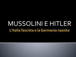 L*Italia fascista e la Germania nazista
