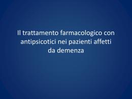 Antipsicotici nelle demenze