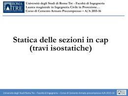 LEZIONE 5 - Statica Sezioni in CAP