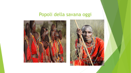 Popoli della savana oggi