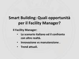 Il Facility Manager