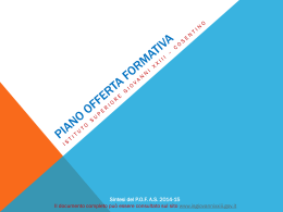 PIANO OFFERTA FORMATIVA - IS GiovanniXXIII