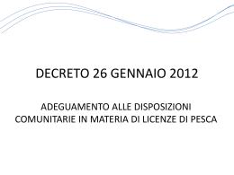 decreto 26 gennaio 2012