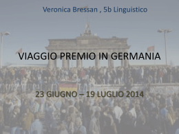 VIAGGIO PREMIO IN GERMANIA