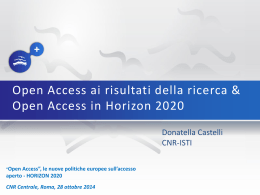 Open Access in Horizon 2020