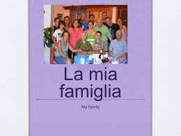 La mia famiglia - ESM School District