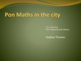 Maths in the city – A. Tiziano