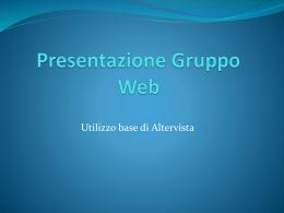 Presentazione Gruppo Web
