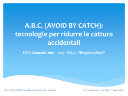ABC (AVOID BY CATCH): tecnologie per ridurre le catture accidentali