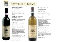 Catalogue site web castello neive 2