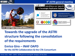Pointing performances - 9th ASTRI Collaboration Meeting