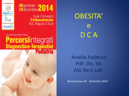 Obesità e Dca - Percorsi integrati diagnostico