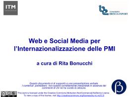 Web e Social Media per l`Internazionalizzazione delle PMI a cura di