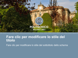 Template nuovo PoliMi Powerpoint