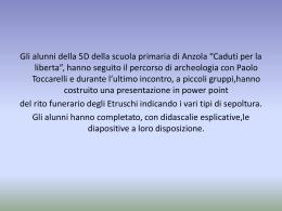 """""""Le tombe dell`antica Roma"""" classe 5D"""
