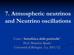 Atmospheric neutrinos - ISHTAR