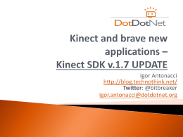 Kinect SDK - Intel® Developer Zone