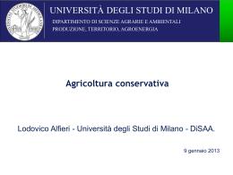 Agricoltura conservativa 2012