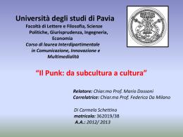 SCHETTINO Carmela - Cim - Università degli studi di Pavia