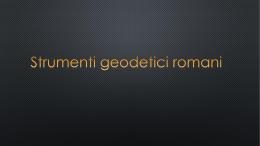 strumenti romani