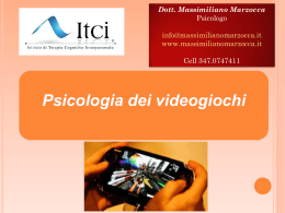 Cyberpsicologia 1. Psicologia dei videogiochi.