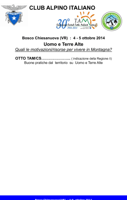 Poster base - Aggionamento TAM/ONC 201
