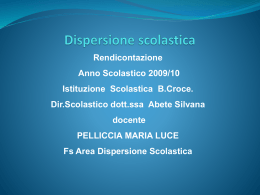 Dispersione scolastica e disagio