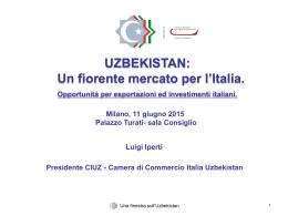 Camera di Commercio Italia Uzbekistan