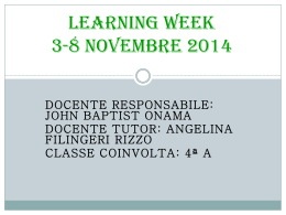 Learning Week 3-8 novembre 2014