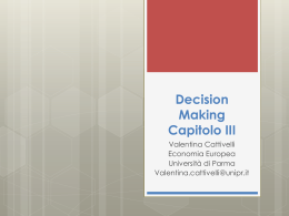 Decision Making Capitolo III