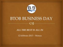 1° BTOB BUSINESS DAY