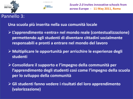Scuole 2.0 invites innovative schools from across Europe