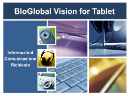 BloGlobal Vision - Service Support Blog Vision for Tablet