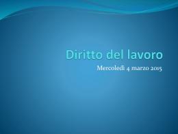 Diritto del lavoro - Università degli Studi di Ferrara