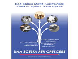 Scienze applicate - Liceo Scientifico `E.Mattei`