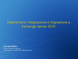 Se migro ad Exchange 2010