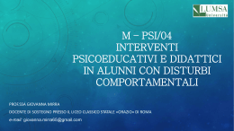 presentazione corso M – PSI power point