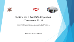 ppt POF 2014-2015 - Liceo Scientifico Jacopo da Ponte