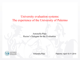 University evaluation systems
