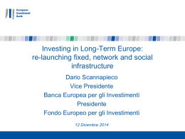 The role of the EIB in financing infrastructure in Europe