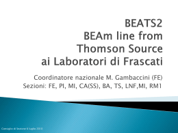 BEATS2 BEAm line from Thomson Source