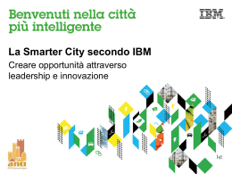 Ore 10.30 La Smarter City secondo IBM