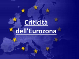 Criticità dell*Eurozona