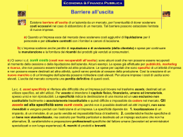 Barriere all`uscita