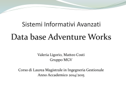 Power Point Sistemi Informativi Avanzati